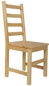 KRZESŁO Z OPARCIEM SOSNOWE MODEL K  Krzesło z oparciem w całości wykonane z drewna sosnowego. W końcu krzesło, na którym będziesz mógł wygodnie...