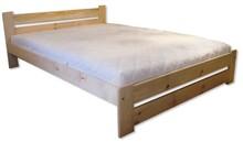ŁÓŻKO SOSNOWE LK-86  Podwójne łóżko drewniane w całości wykonane z drewna sosnowego. Wyposażone w listwę wzmacniającą oraz piątą nogę. Mebel...