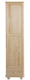 SZAFA SOSNOWA SF-19  Szafa jednodrzwiowa w całości wykonana z drewna sosnowego. Pojemna, solidna. Połączenie półek z drążkiem oraz funkcjonalnymi...