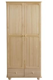 SZAFA SOSNOWA SF-12  Szafa dwudrzwiowa w całości wykonana z drewna sosnowego. Pojemna, solidna. Połączenie półek z drążkiem oraz funkcjonalnymi...