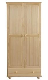 SZAFA SOSNOWASF-14  Szafa dwudrzwiowa w całości wykonana z drewna sosnowego. Pojemna, solidna. Połączenie półek z drążkiem oraz funkcjonalnymi...