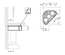 Nóżka Plastikowa Do Dużych Obciążeń Unico Wysokość 15cm - Camar