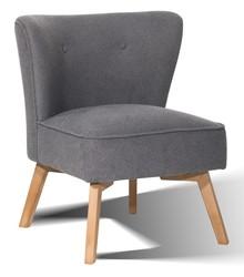 Fotel tapicerowany Andreas Vintage szary