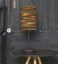 Lampa stołowa 1L/16 brązowa karton