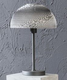 Lampa stołowa 1L/30 biało-szary abażur ręcznie robiony