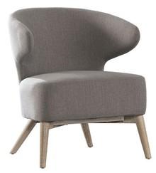 Fotel F10 tapicerowany szaro-beżowy