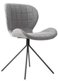 Krzesło tapicerowane OMG jasnoszare na czworonogu