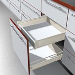 Mocowanie frontu szuflady wewnetrznej Metabox Wys.N KREMOWE  Mocowanie frontu ZIF.3010 Typ uchwytu frontu: do szuflady wewnętrznej System szuflad: METABOX...