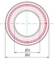 Uchwyt 2679 Czarny Mat Fi 60 mm wpuszczany - Schwinn