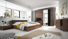Indira zestaw  INDIRA to sypialnia charakteryzująca się bardzo funkcjonalnymi rozwiązaniami. W modelu tym dostępna jest bardzo przestronna szafa...