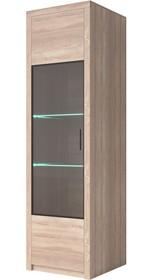 Nemezis - witryna wąska 1 drzw. - prawa/lewa  NEMEZIS to kolekcja wykonana z płyty laminowanej w bardzo modnym kolorze jasnego Dębu Sonoma. Solidne...