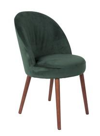 Kolor: zielony  Materiał: drewno, 100% poliester aksamit  Wymiary: 51x59x85,5 Wysokość siedzenia: 50 Głębokość siedzenia: 44  Waga: 15,5kg