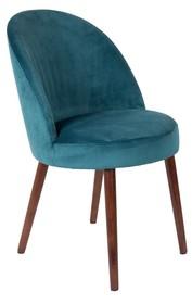 Kolor: niebieski  Materiał: drewno, 100% poliester aksamit  Wymiary: 65x57x52 Wysokość siedzenia: 50 Głębokość siedzenia: 44  Waga: 15,5kg