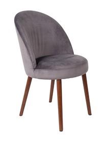 Kolor: szary  Materiał: drewno, 100% poliester aksamit  Wymiary: 51x59x85,5 Wysokość siedzenia: 50 Głębokość siedzenia: 44 Waga: 15,5kg