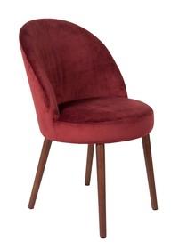 Kolor: czerwony  Materiał: drewno, 100% poliester  Wymiary: 51x59x85,5 Wysokość siedzenia: 50 Głębokość siedzenia: 44  Waga: 15,5kg