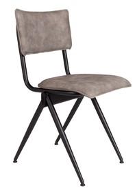 Kolor: aksamitnie szary Materiał: stal malowana proszkowo, skóra ekologiczna  Wymiary: 39,5x54,5x82,5 Wysokość siedzenia: 50 Głębokość siedzenia: 41...