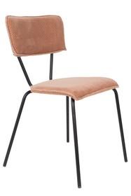Kolor: różowy  Materiał: aksamit  Wymiary: 51x54x81,5 Wysokość siedzenia: 49 Głębokość siedzenia: 40  Waga: 13,2kg