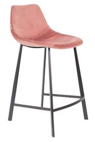 Kolor: rózowy Materiał: 100% poliester aksamit  Wymiary: 45x52x91 Wysokość siedzenia: 65 Głębokość siedzenia: 40 Wysokość nóg: 20,5  Waga: 17kg