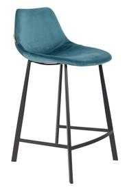 Kolor: niebieski Materiał: 100% poliester aksamit  Wymiary: 45x52x91 Wysokość siedzenia: 65 Głębokość siedzenia: 40 Wysokość nóg: 20,5 ...