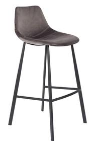 Kolor: szary  Materiał: 100% poliester aksamit  Wymiary: 50x54x106 Wysokość siedzenia: 80 Głębokość siedzenia: 40 Wysokość nóg: 34  Waga: 18kg