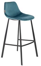Kolor: niebieski Materiał: 100% poliester aksamit  Wymiary: 50x54x106 Wysokość siedzenia: 80 Głębokość siedzenia: 40 Wysokość nóg: 34  Waga:...