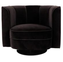 Fotel FLOWER - czarny
