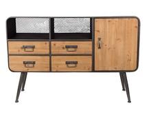 Kolor: szary proszek  Materiał: drewno, żelazo  Wymiary: 120x38x80 Waga: 29kg