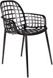 Kolor: czarny  Materiał: aluminium  Wymiary: 59,5x59,5x82,5 cm (WxDxH)  Wysokość podłokietników: 63,5 cm  Wysokość siedzenia: 47,5 cm ...