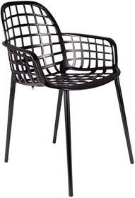 Krzesło ogrodowe Albert Kuip czarne