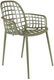 Kolor: zielony Materiał: aluminium  Wymiary: 59,5x59,5x82,5 cm (WxDxH) Wysokość siedzenia: 47,5 cm Głębokość siedzenia: 44 cm  Maksymalne...