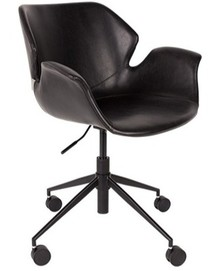 Krzesło biurowe Nikki czarne