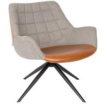 Kolor: brązowy  Materiał: 100% poliester  Wymiary: 80,5x84x57 cm (WxDxH)  Wysokość siedzenia: 42 cm  Głębokość siedzenia: 51 cm  Maksymalne...