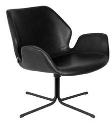 Fotel lounge NIKKI - czarny