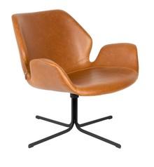 Fotel lounge NIKKI - brązowy