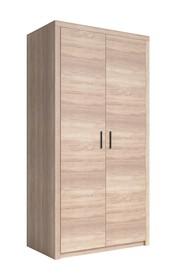 Nemezis 18 - szafa 2 drzw.  NEMEZIS to kolekcja wykonana z płyty laminowanej w bardzo modnym kolorze jasnego Dębu Sonoma. Solidne bryły o prostych...