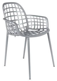 Krzesło ogrodowe Albert Kuip szare Do zewnętrznego i wewnętrznego użytku.  Kolor: szary Materiał: aluminium  Wymiary: 59,5x59,5x82,5 cm Wysokość...