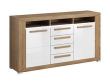 Lumi WM 25 - komoda 2 drzwiowa + 4 szuflady, wnęka  System mebli do pokoju dziennego LUMI to idealne rozwiązanie dla Klientów, którzy lubią...