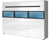 Hektor WM 48 - wysoka komoda trzydrzwiowa  HEKTOR to nowoczesny system mebli dla Klientów ceniących nietuzinkowy design. Korpusy wykonane są...
