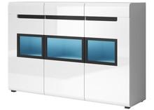 Hektor WM 43 - komoda trzydrzwiowa + 1 szuflada  HEKTOR to nowoczesny system mebli dla Klientów ceniących nietuzinkowy design. Korpusy wykonane są z...