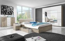 Beta zestaw - szafa dwudrzwiowa + łóżko 160 + 2 stoliki nocne  BETA sypialnia to rozwinięcie programu szaf o tej samej nazwie. Model...