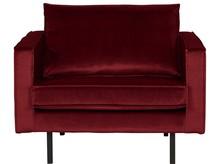 Fotel RODEO - aksamitny czerwony