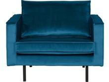 Fotel Rodeo aksamitny niebieski