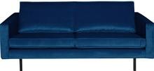 Sofa Rodeo 2,5 osobowa aksamitna ciemnoniebieska