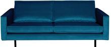 Sofa Rodeo 2,5 osobowa aksamitna niebieska  Wymiary:  - Wysokość: 85 cm - Szerokość: 190 cm - Głębokość: 86 cm  Materiał:  - aksamit