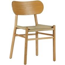 Krzesło do jadalni Jointly  Wymiary:  - Wysokość: 79 cm - Szerokość: 47.5 cm - Głębokość: 48.5 cm  Kolor:  - drewno naturalne  Materiał:...