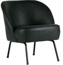 Fotel skórzany Vogue czarny  Wymiary:  - Wysokość: 69 cm - Szerokość: 57 cm - Głębokość: 70 cm  Kolor:  - czarny Materiał:  - skóra