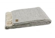 Kolor: biały/szary Materiał: 50% bawełna, 20% wełna, 20% akryl, 10% nylon Wymiary: 130x170