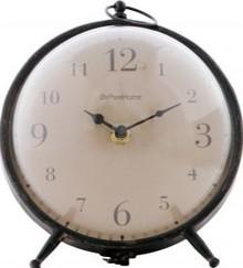 Zegar metalowy Babbel czarny vintage  Wymiary:  - Wysokość: 17.5 cm - Szerokość: 17 cm - Głębokość: 17 cm  Kolor:  - czarny  Materiał:  -...