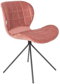 Wyściełana tapicerka w 100% poliestrowym aksamicie30.000 Martindale  Kolor: różowy  Wymiary: 51x56x80 cm Wysokość siedzenia: 47 cm Głębokość...
