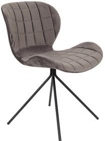 Kolor: szary Materiał: 100% tkaniny poliestrowej aksamitnej  Wymiary: 51x56x80 cm Wysokość siedzenia: 47 cm Głębokość siedzenia: 42 cm  Maksymalne...